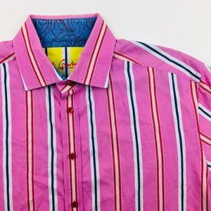 Robert Graham Pink Men's Button Down Shirt